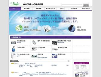 Main page screenshot of t-dylec.net