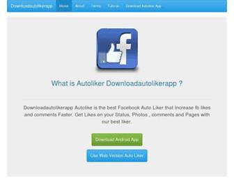 downloadautolikerapp.com screenshot
