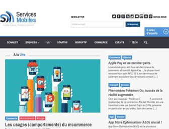 Main page screenshot of servicesmobiles.fr