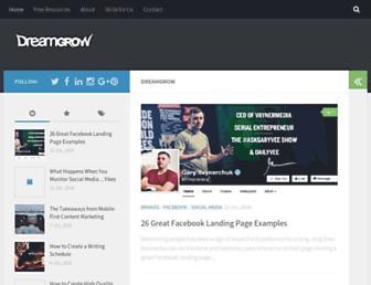 dreamgrow.com screenshot