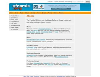 Main page screenshot of afromix.org