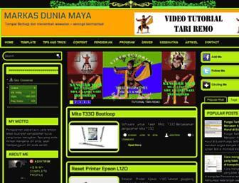 loginmarkasduniamaya.blogspot.com screenshot
