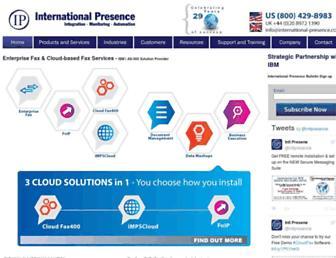 international-presence.com screenshot