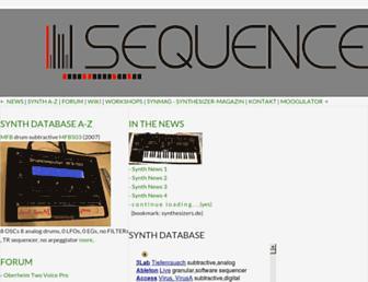 sequencer.de screenshot
