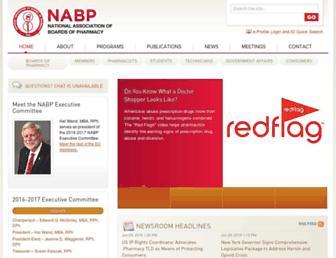 Main page screenshot of nabp.net