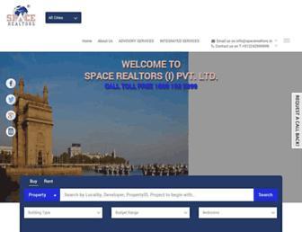 Main page screenshot of spacerealtors.in