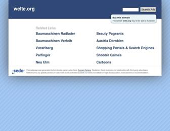 Main page screenshot of welte.org