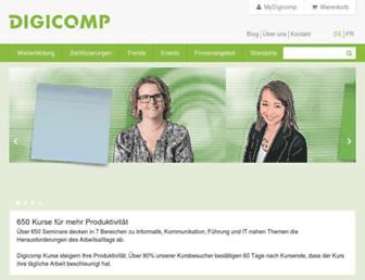 Main page screenshot of digicomp.ch