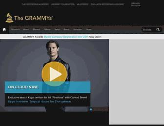 grammy.com screenshot