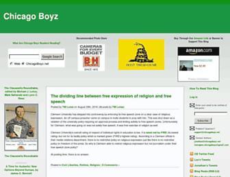 Main page screenshot of chicagoboyz.net