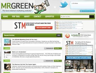 Main page screenshot of mrgreen.am