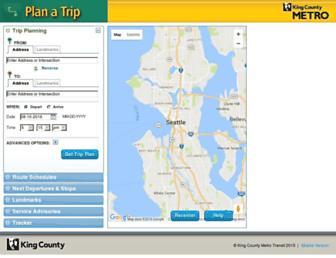 tripplanner.kingcounty.gov screenshot