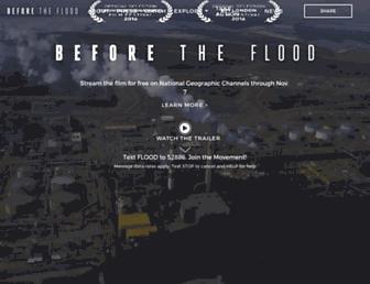 beforetheflood.com screenshot