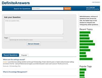definiteanswers.com screenshot