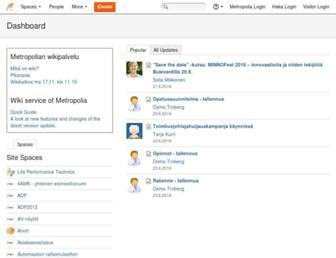 wiki.metropolia.fi screenshot