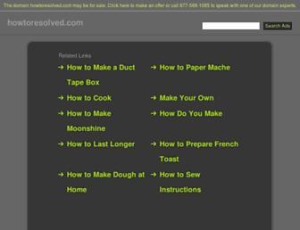 howtoresolved.com screenshot