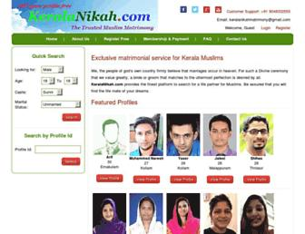 keralanikah.com screenshot