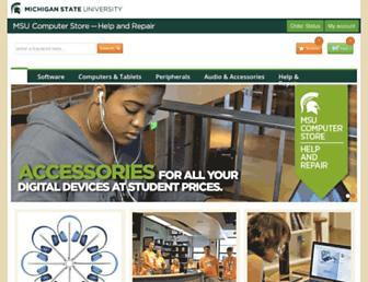Main page screenshot of cstore.msu.edu