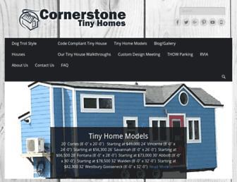 cornerstonetinyhomes.com screenshot