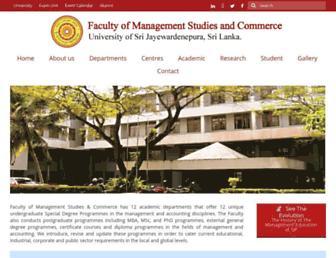 mgt.sjp.ac.lk screenshot