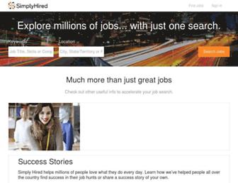 simplyhired.co.in screenshot