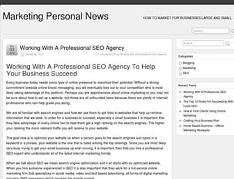 Main page screenshot of marketing-perso.net