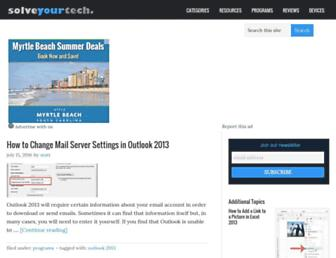 Thumbshot of Solveyourtech.com