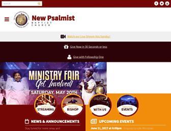 Main page screenshot of newpsalmist.org