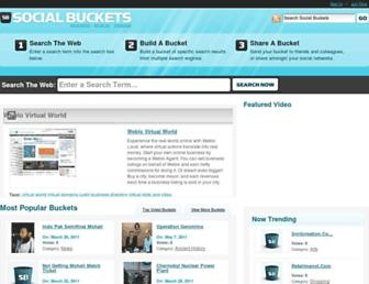 socialbuckets.com screenshot