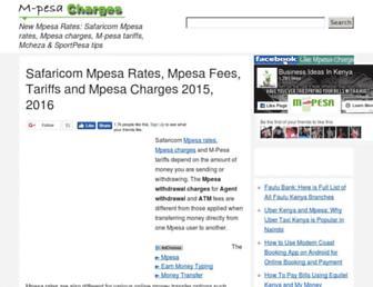 mpesacharges.com screenshot