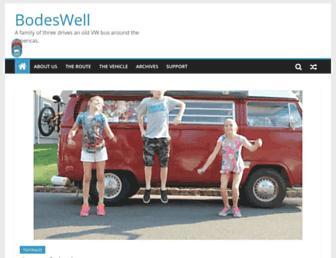 Main page screenshot of bodeswell.org