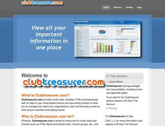 clubtreasurer.com screenshot