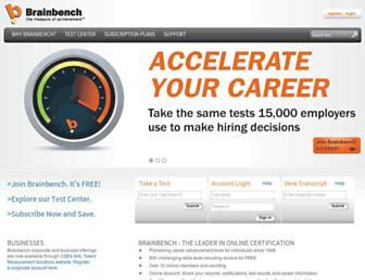 brainbench.com screenshot
