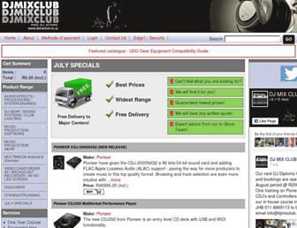 djmixclub.co.za screenshot
