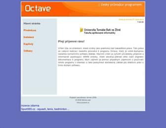 Main page screenshot of octave.cz
