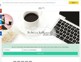theworkathomewife.com screenshot