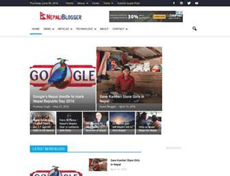 nepaliblogger.com screenshot