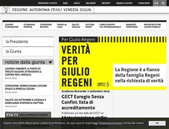 Main page screenshot of regione.fvg.it