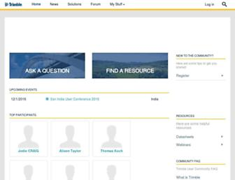 community.trimble.com screenshot