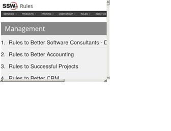 rules.ssw.com.au screenshot