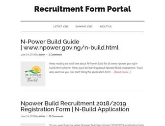 recruitmentformportal.com screenshot