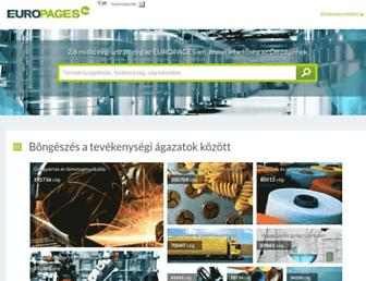Main page screenshot of europages.co.hu