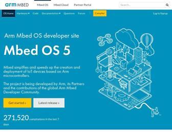 os.mbed.com screenshot