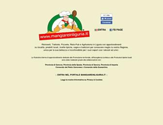 Main page screenshot of mangiareinliguria.it