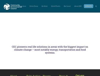 Main page screenshot of cecsb.org