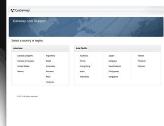 support.gateway.com screenshot