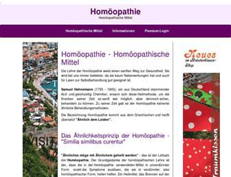 Thumbshot of Homoeopathie-homoeopathisch.de