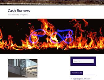 Main page screenshot of cashburners.net