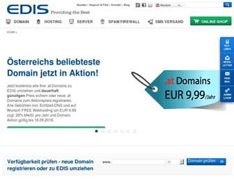Main page screenshot of edis.at