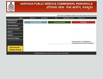 Thumbshot of Hpsc.gov.in